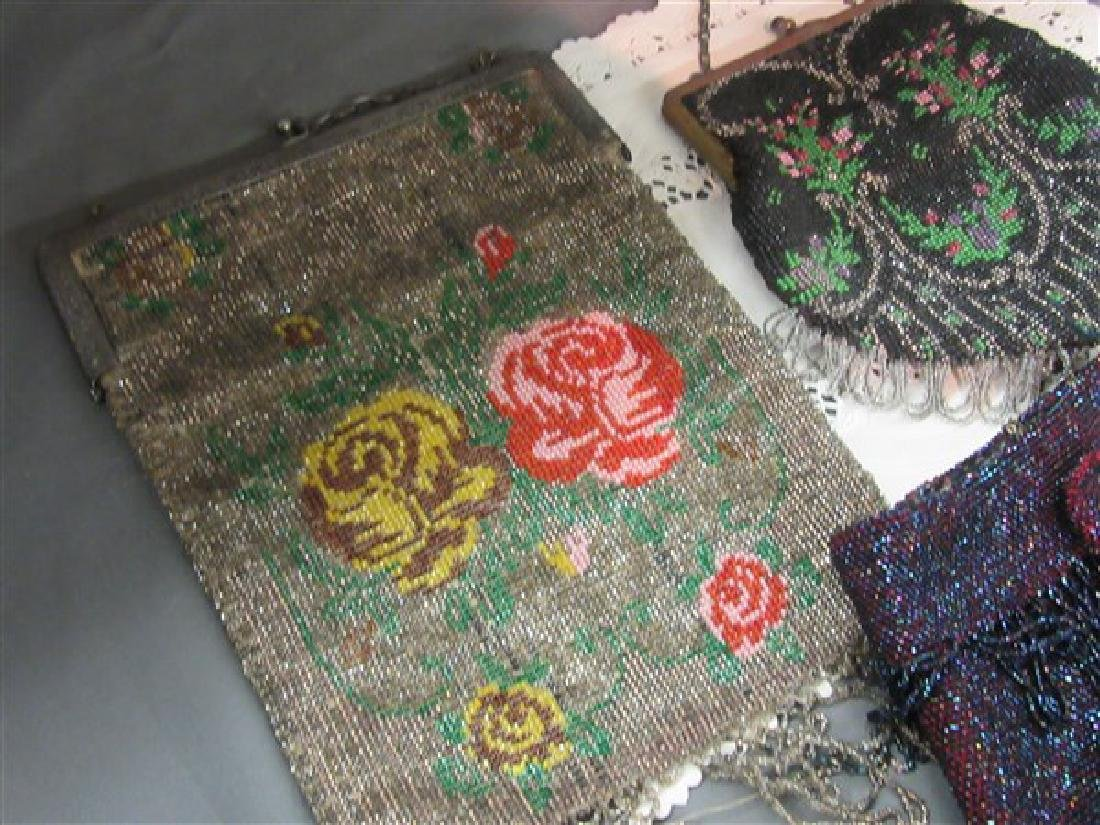 Three (3) Victorian Beaded Purses - 3