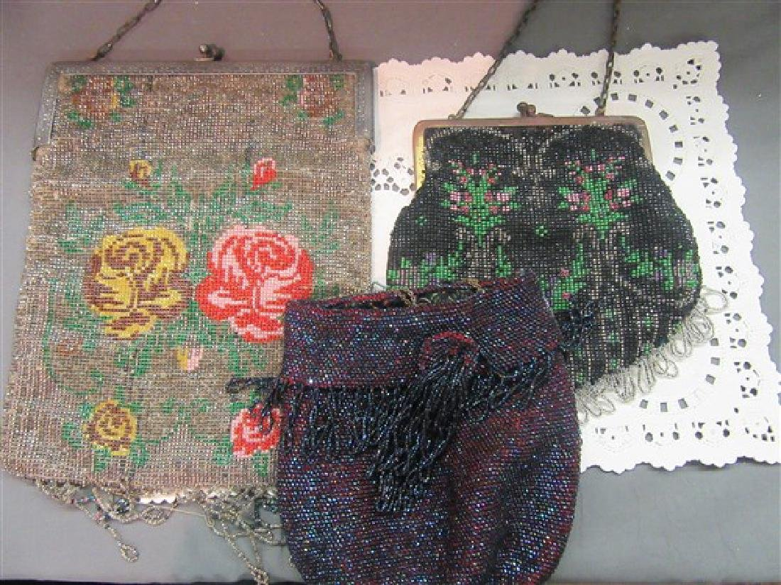Three (3) Victorian Beaded Purses - 4