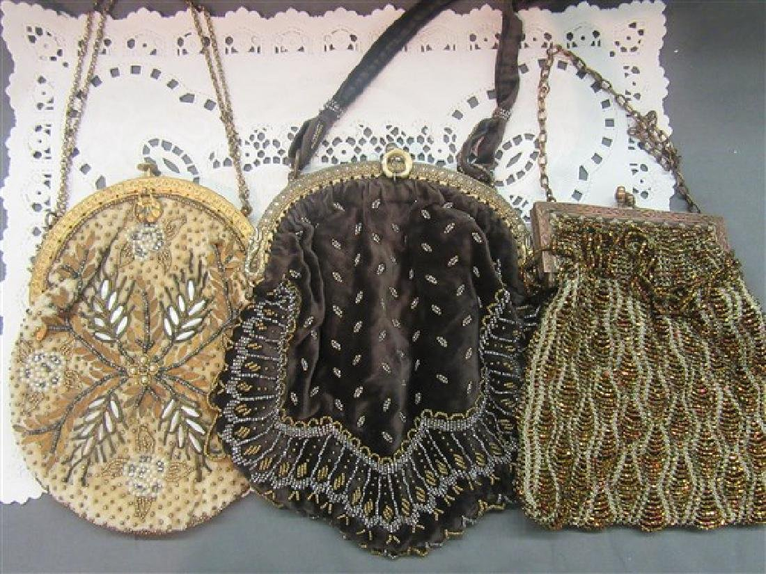 Three (3) Victorian Beaded Bags