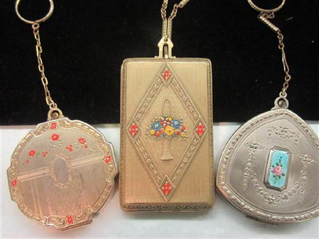 Three (3) 1920's Compacts