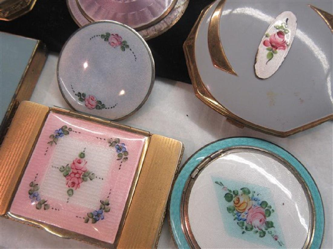Eight (8) Vintage Enameled Compacts - 3