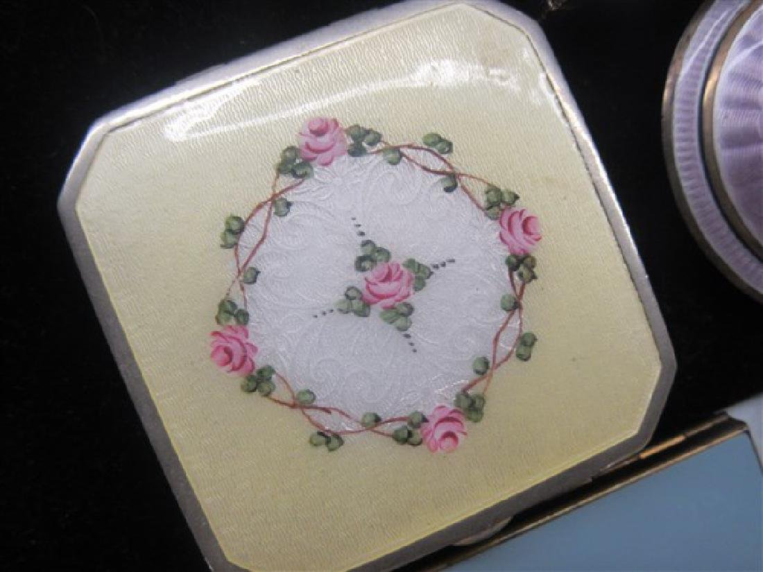 Eight (8) Vintage Enameled Compacts - 4