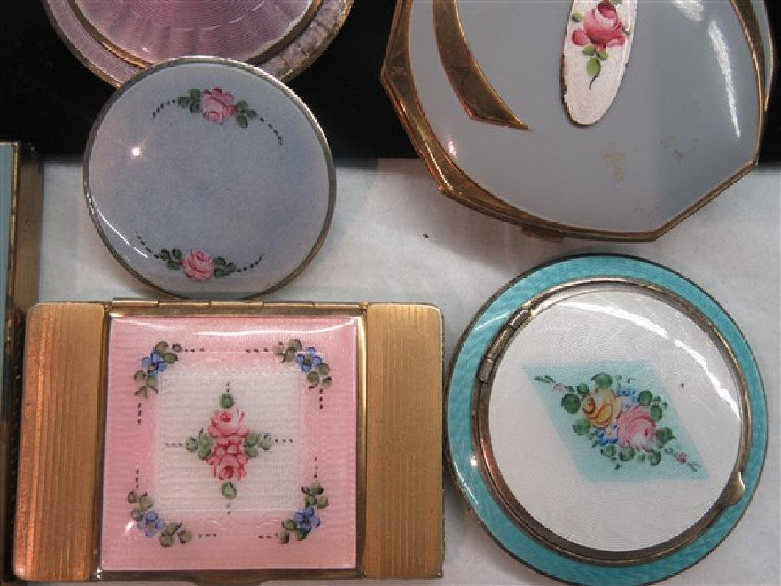 Eight (8) Vintage Enameled Compacts - 5