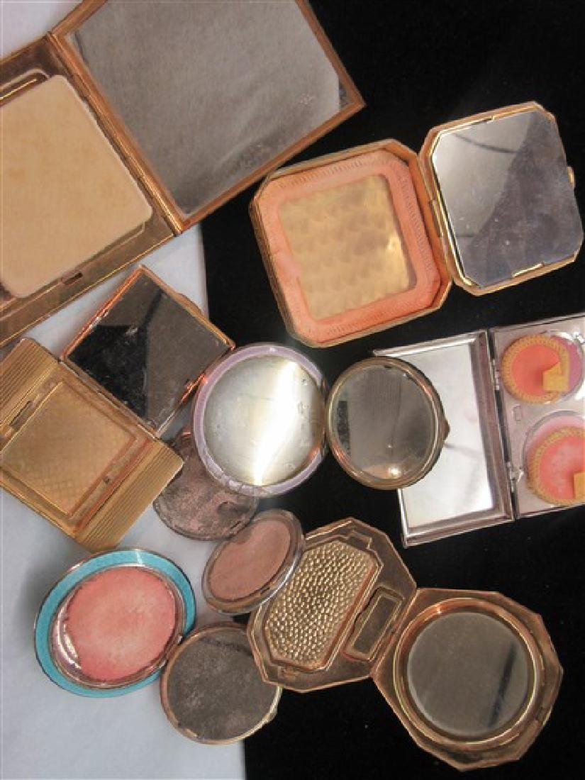 Eight (8) Vintage Enameled Compacts - 7