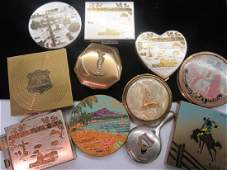 Eleven (11) Souvenir Tourism Vintage Compacts
