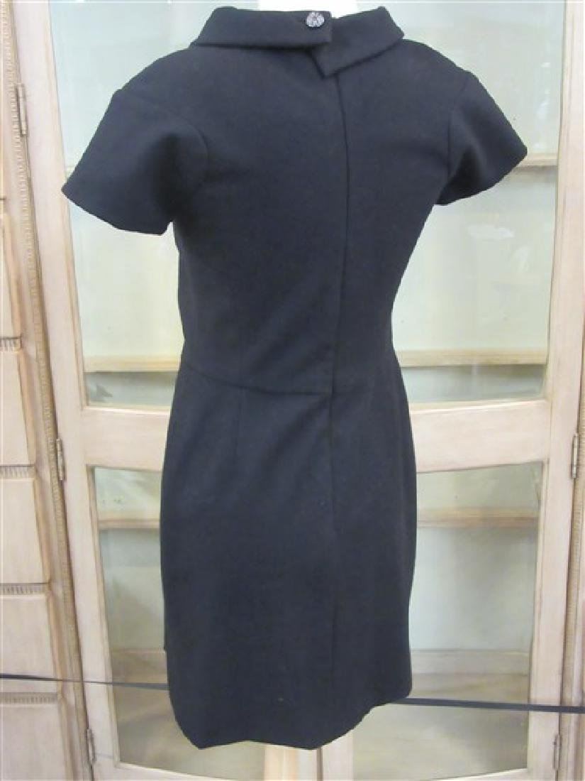 Chanel 100% Wool Laine Black Dress - 3
