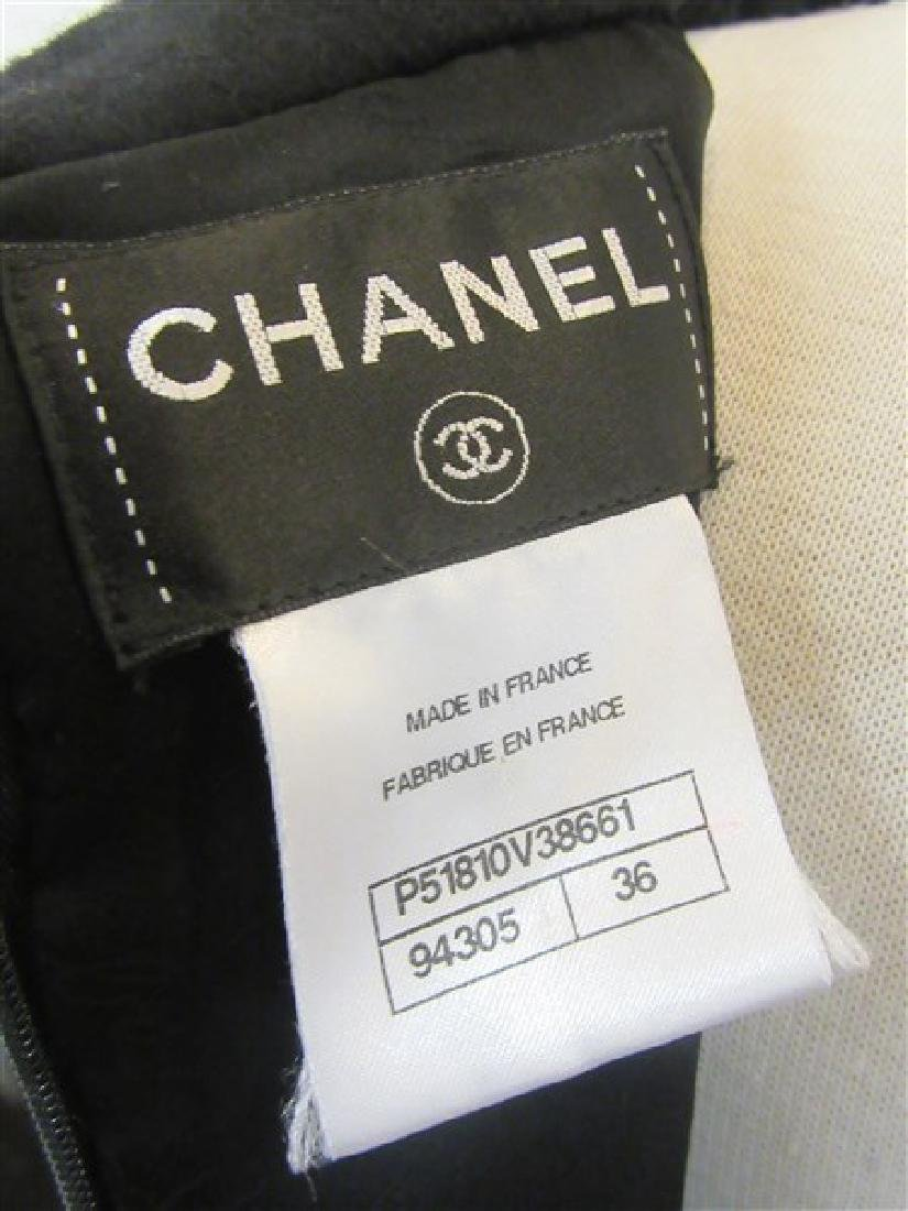 Chanel 100% Wool Laine Black Dress - 4
