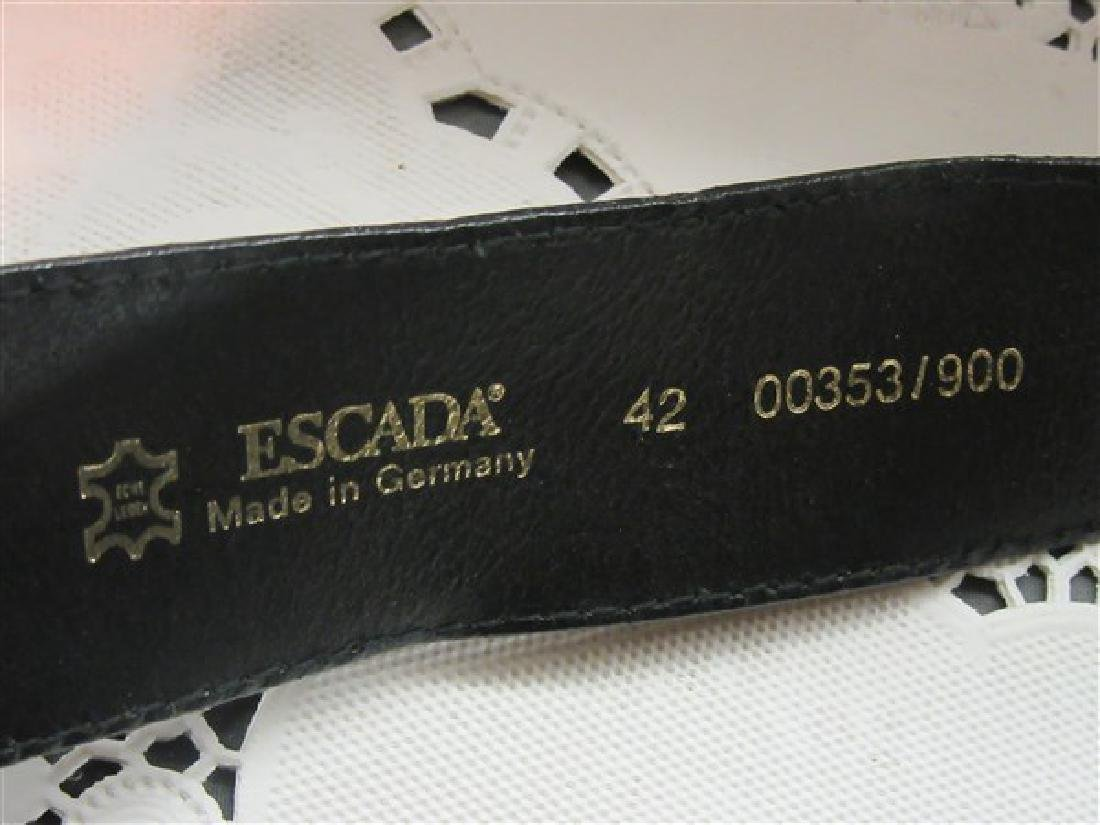 Escada Black Leather Belt - 3