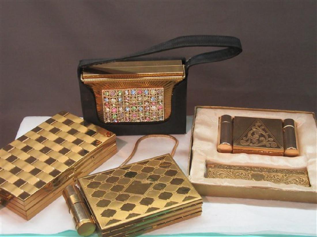 Four (4) Vintage Wristlet Compacts