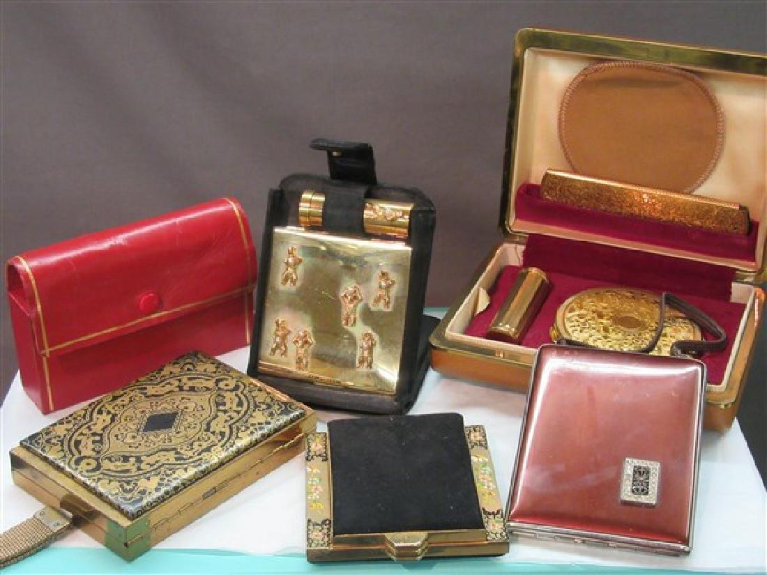 Six (6) Piece Vintage Compact Sets