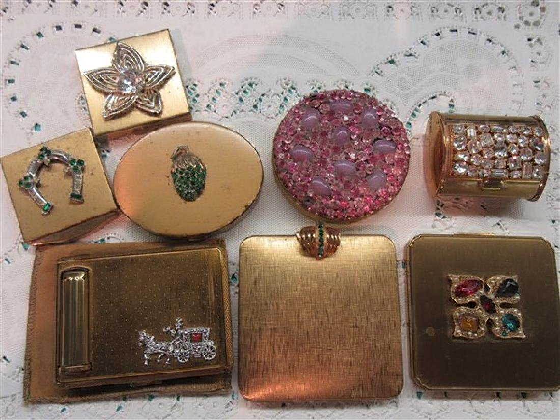 Eight (8) Vintage Compacts