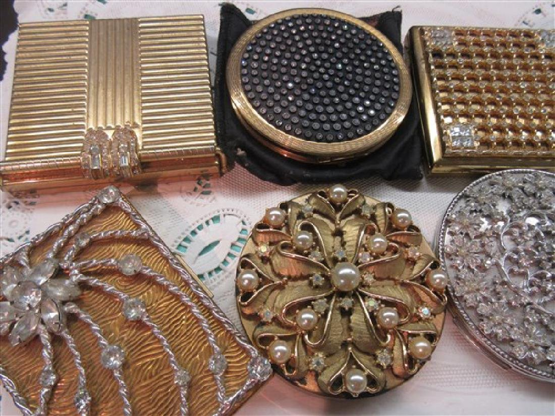 Eight (8) Vintage Jeweled Compacts - 2