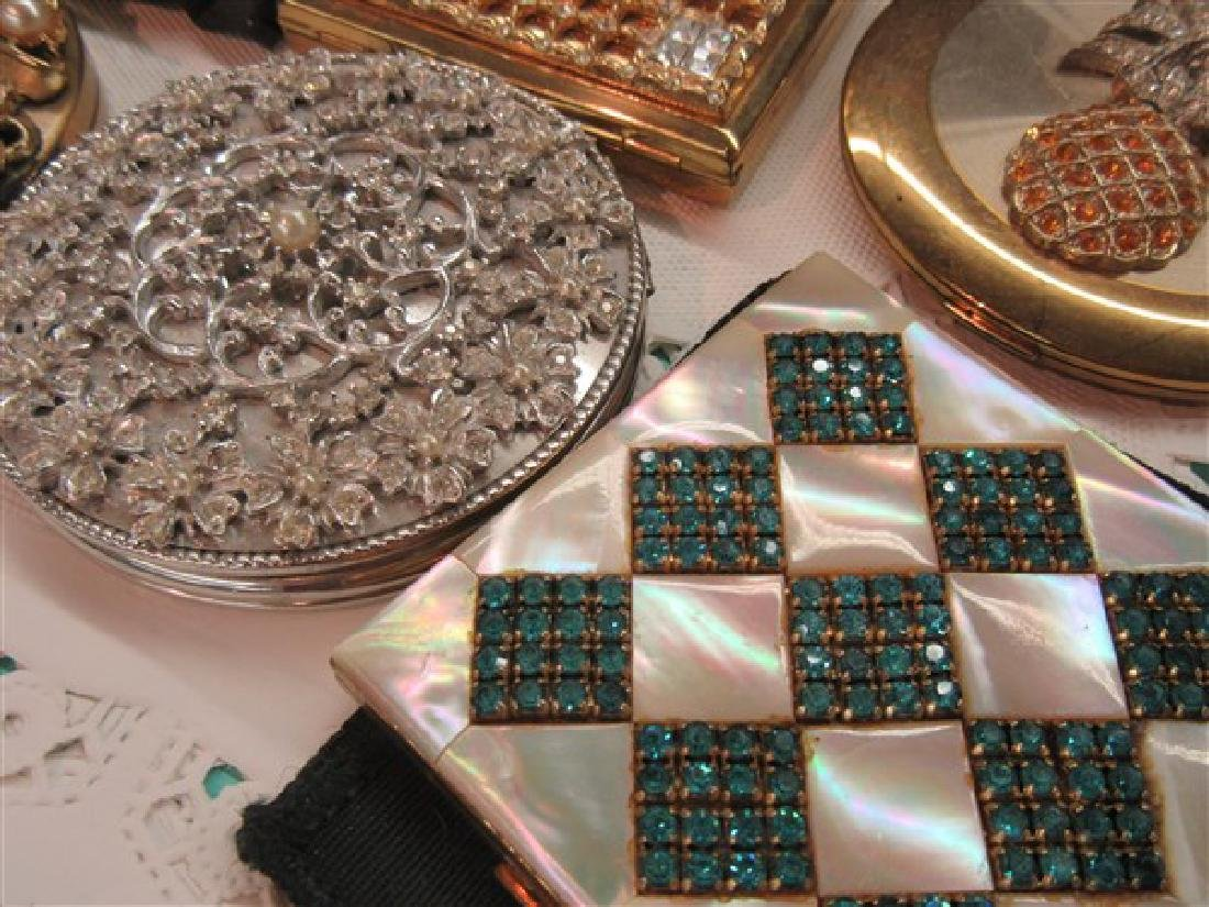 Eight (8) Vintage Jeweled Compacts - 4