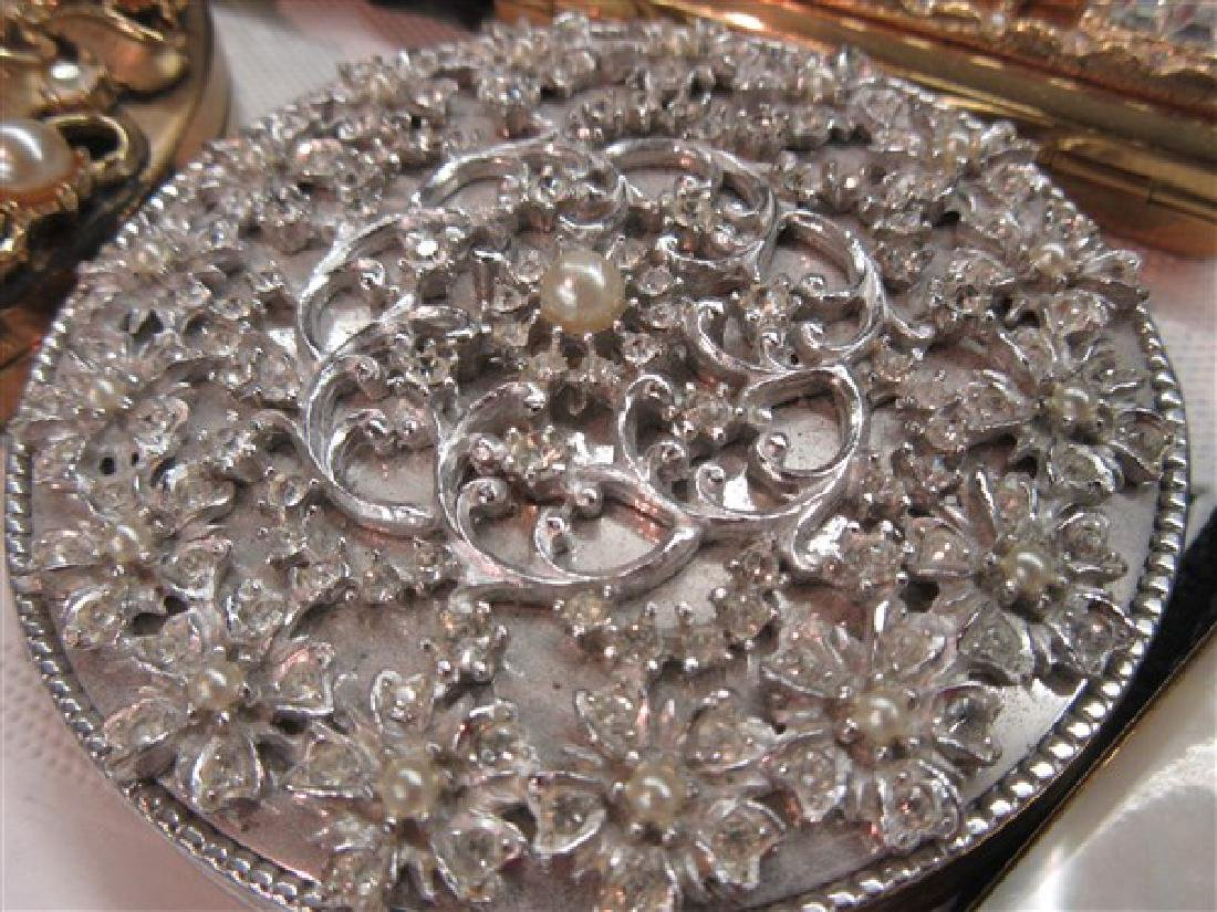 Eight (8) Vintage Jeweled Compacts - 5