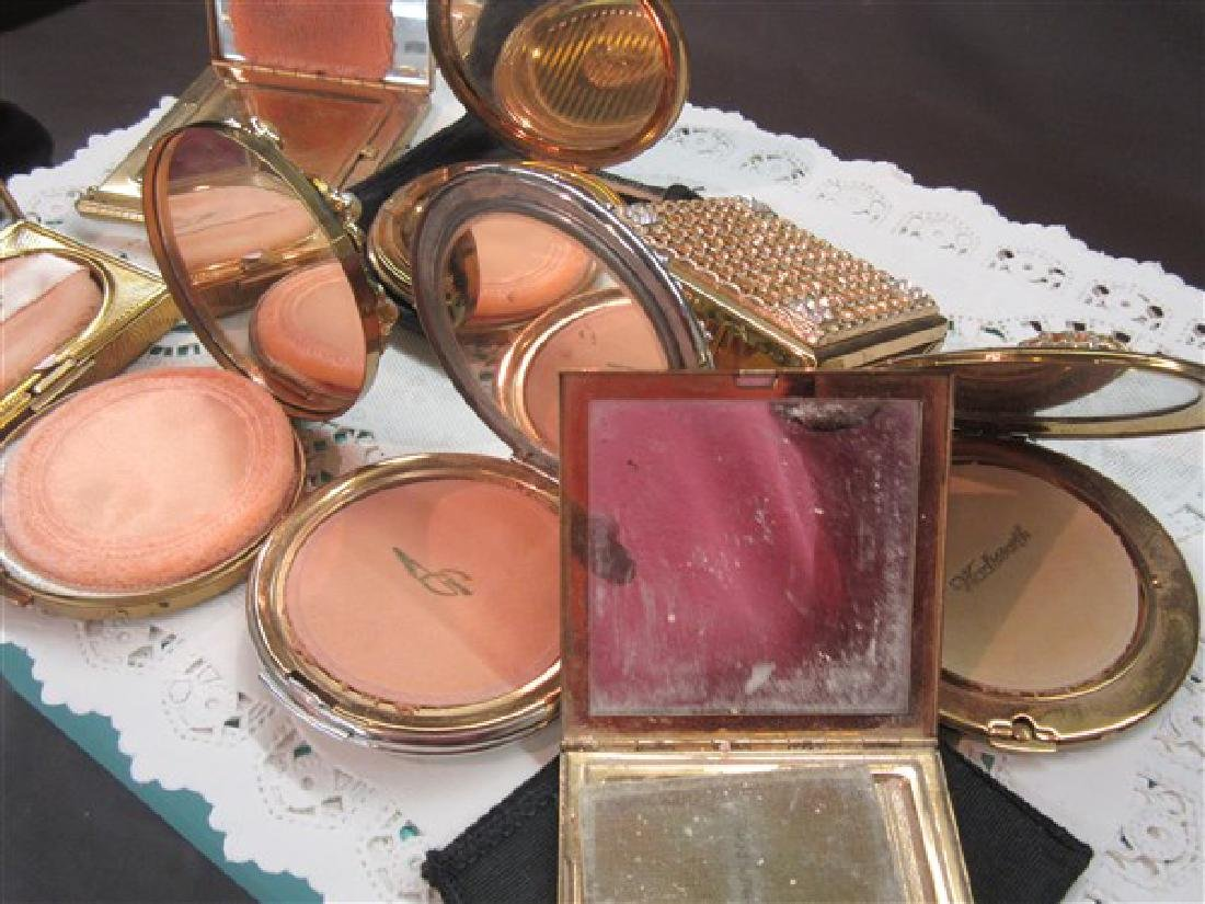 Eight (8) Vintage Jeweled Compacts - 6