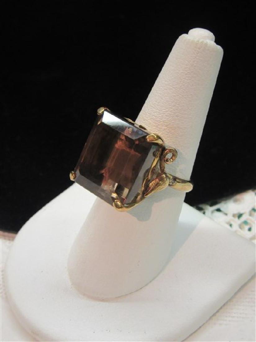 14K Gold Smoky Topaz Ring