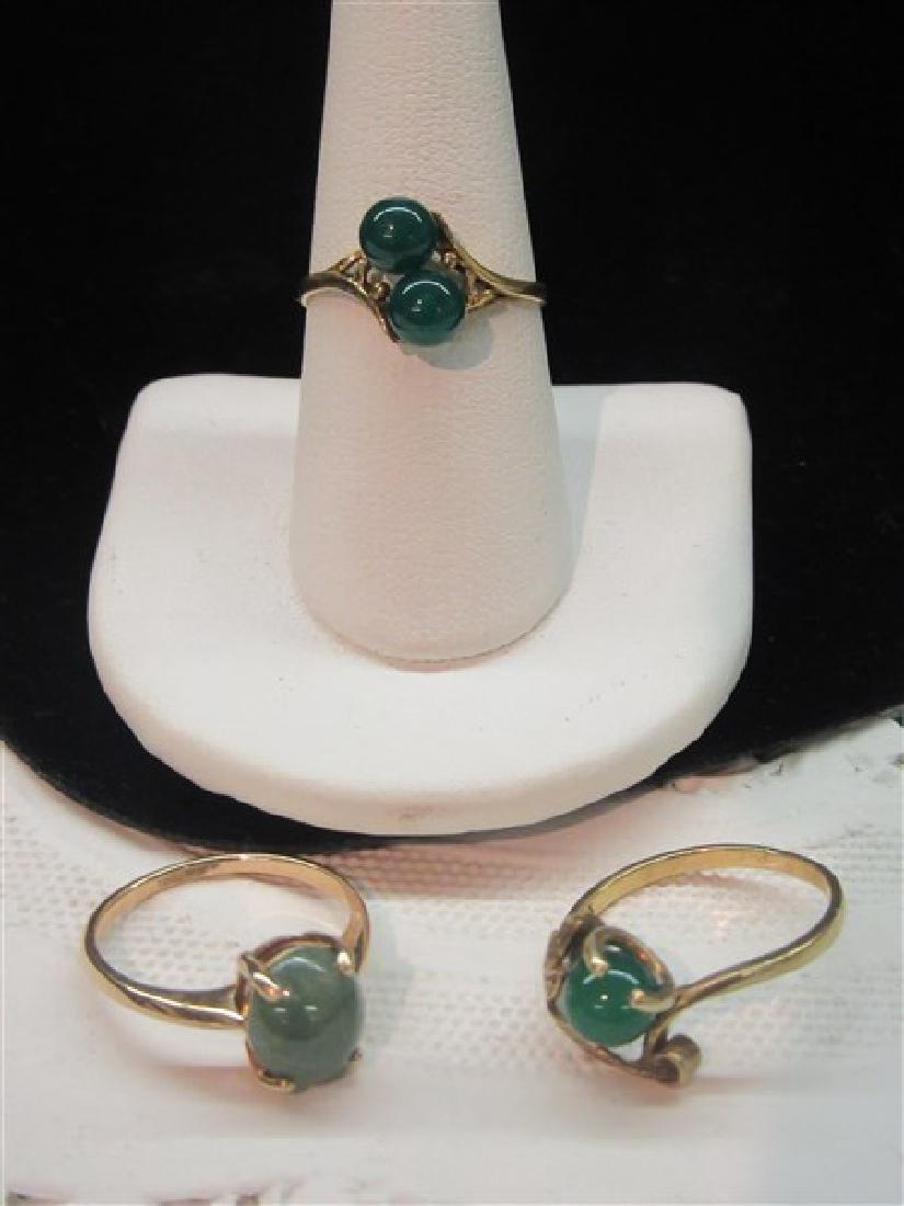 Three (3) Jade Rings