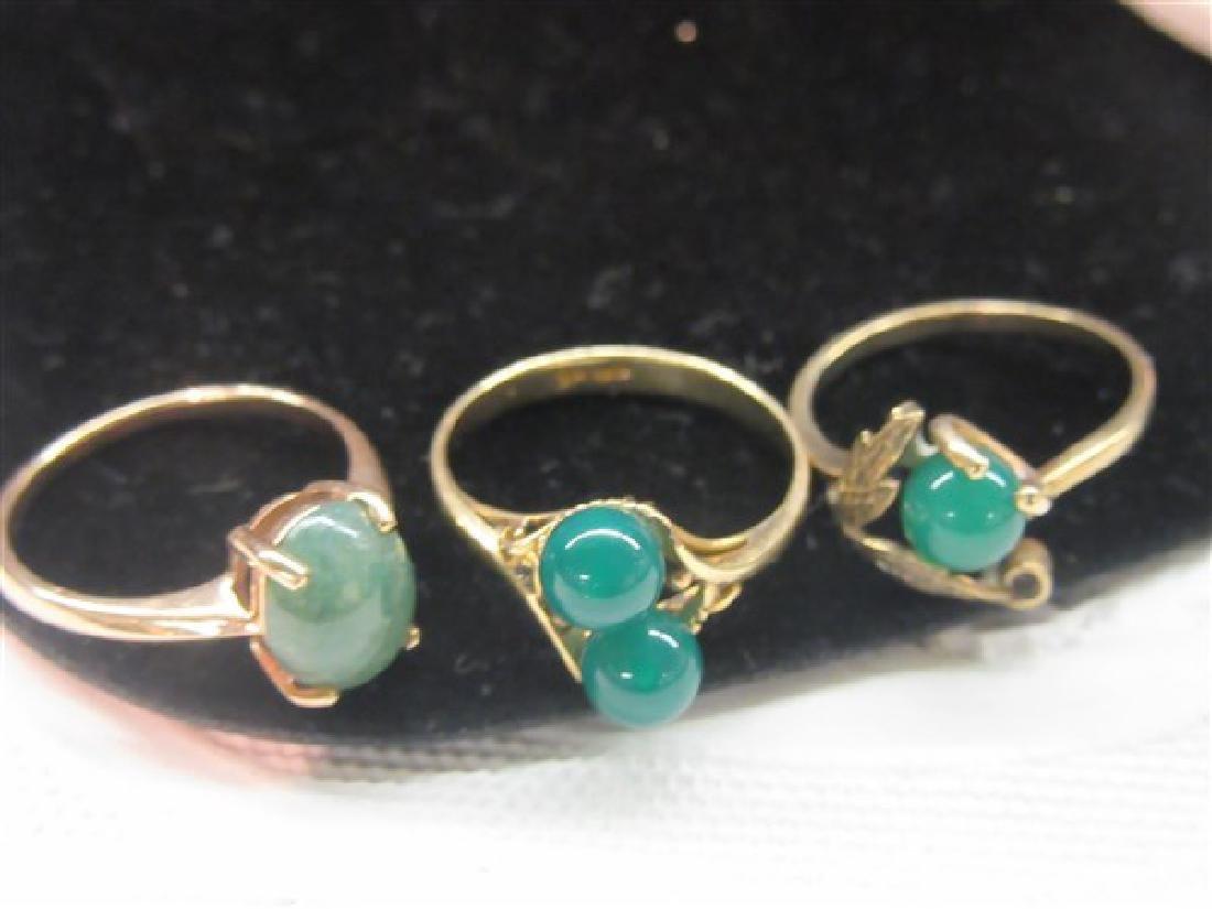 Three (3) Jade Rings - 2
