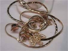 Misc Gold Jewelry Group