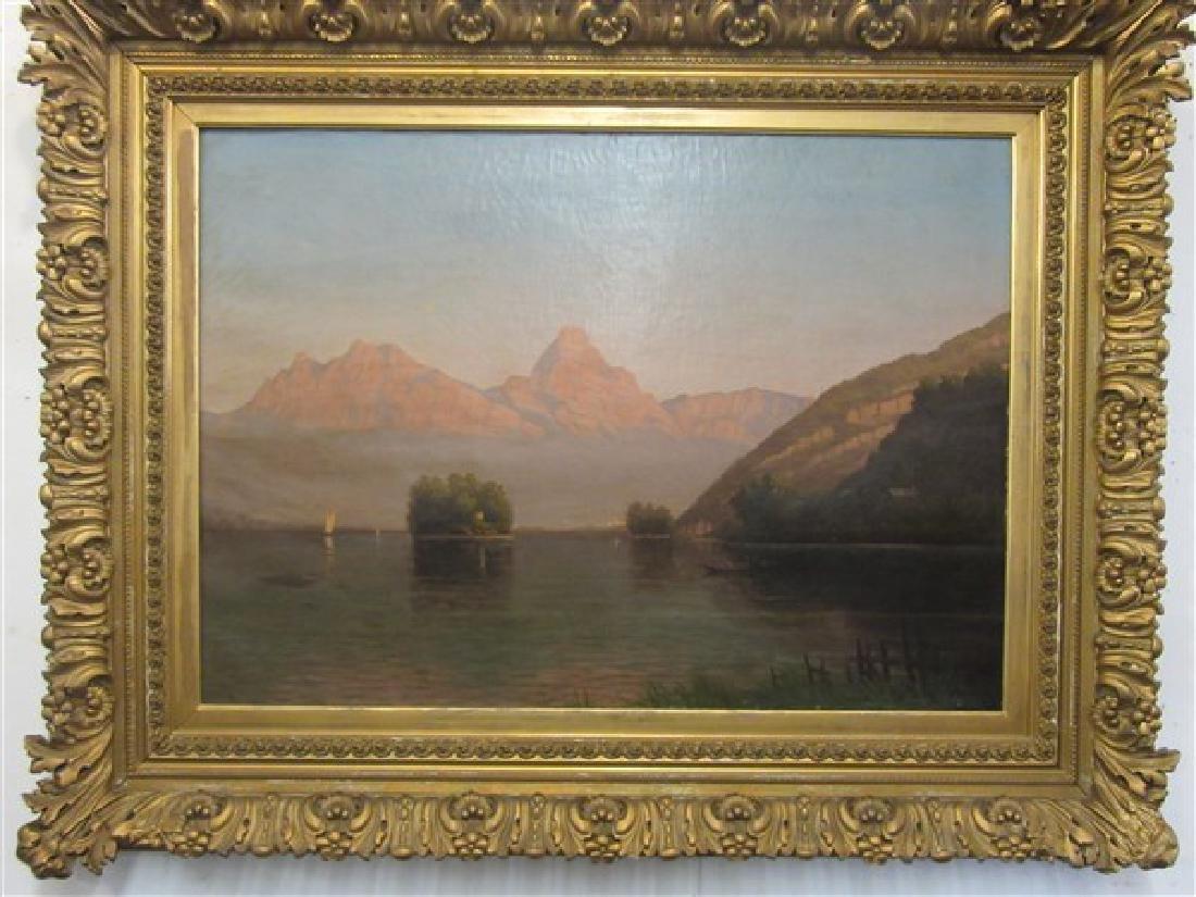 19th c. Switzerland Oil On Canvas