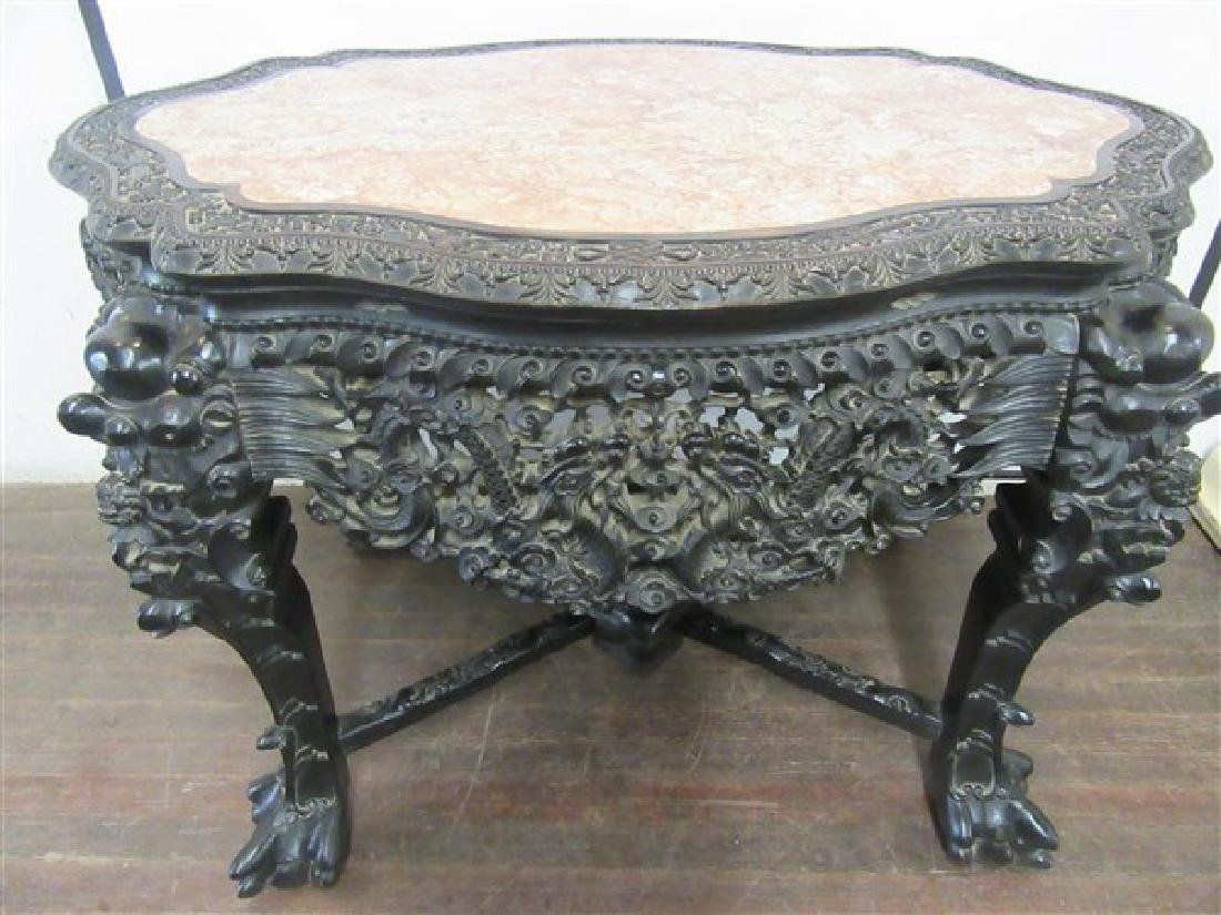 19th Century Chinese Carved Hardwood Center Hall Table