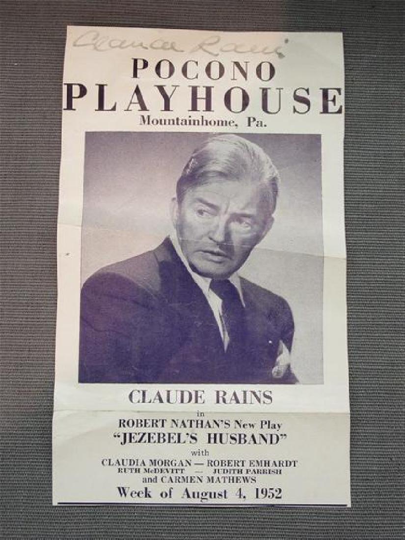 photo Claude Rains (1889-1967)