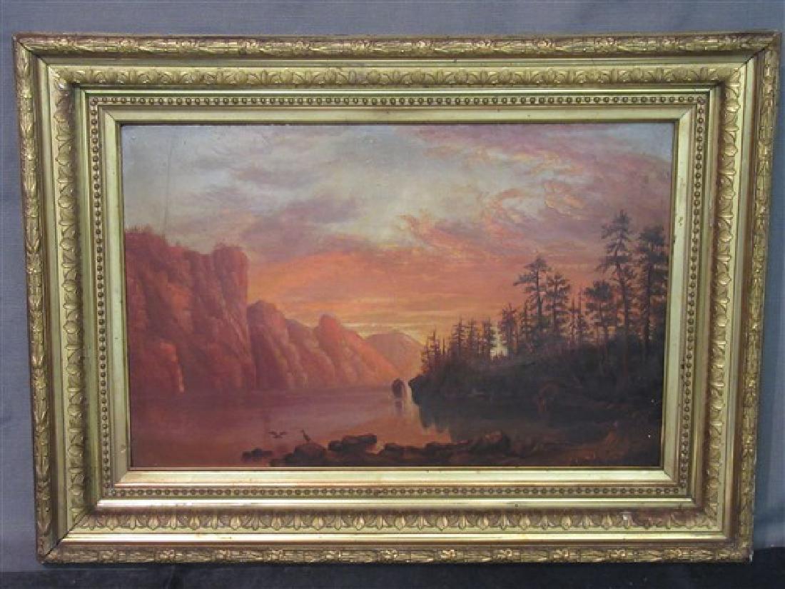 Sunset Mountain Landscape Oil Painting
