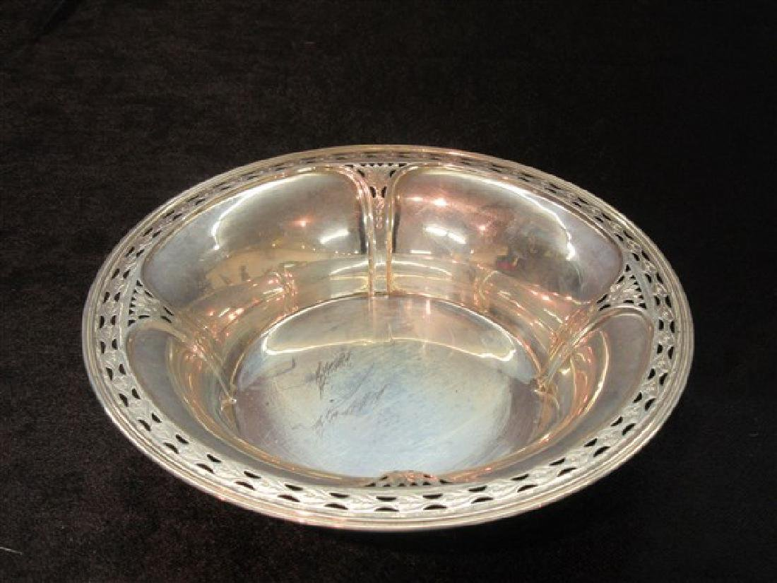 Whiting Sterling Silver Openwork Bowl
