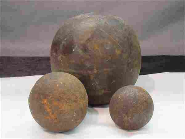 Three (3) Cannon Balls