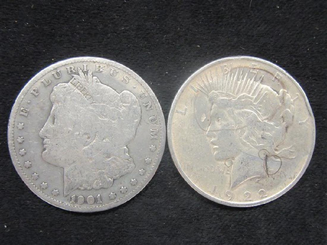 U.S. Silver Morgan And Peace Dollars