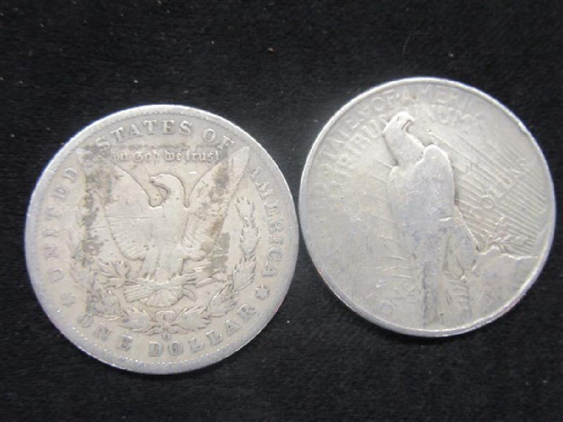 U.S. Silver Morgan And Peace Dollars - 2