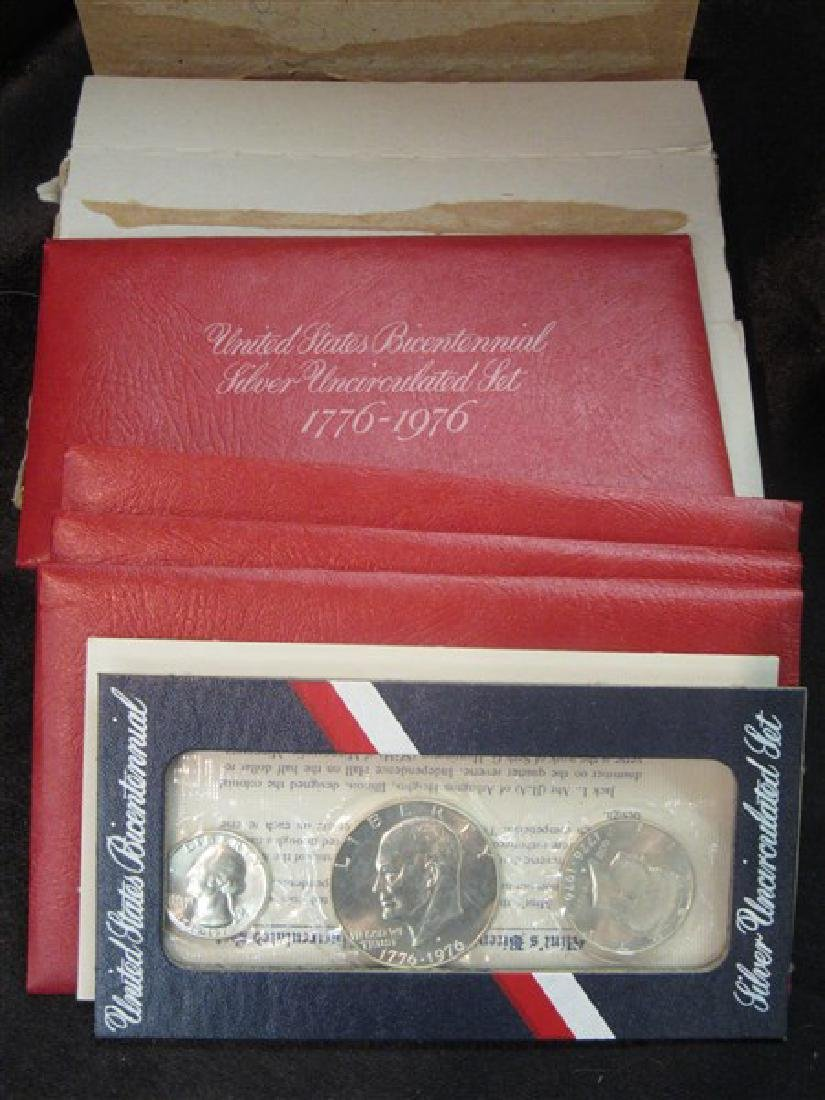 Four Sets 1976 Silver Bicentennial Uncirculated Sets