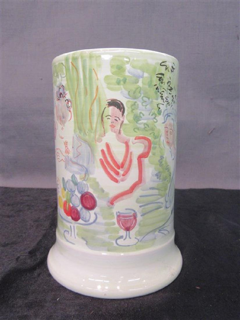 Deruta Italy  Ceramic Vase, Raoul Dufy