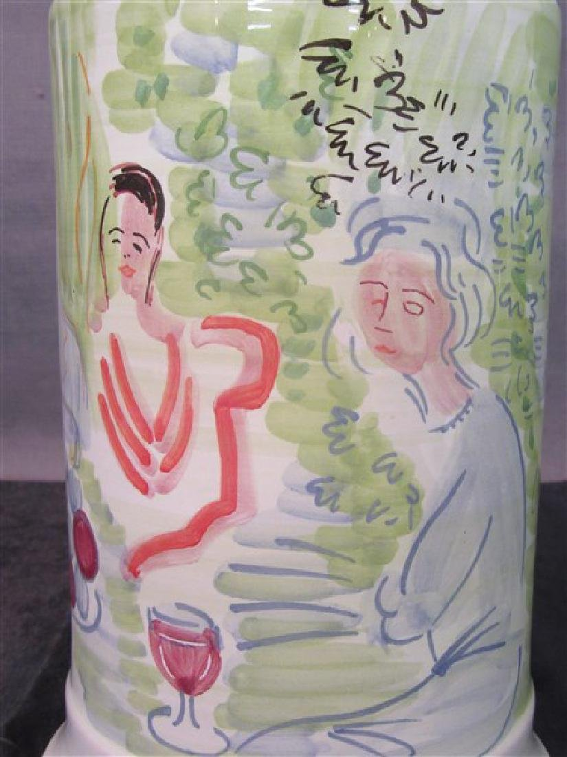 Deruta Italy  Ceramic Vase, Raoul Dufy - 2