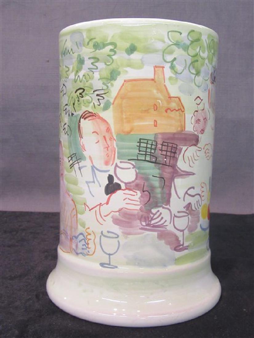 Deruta Italy  Ceramic Vase, Raoul Dufy - 3