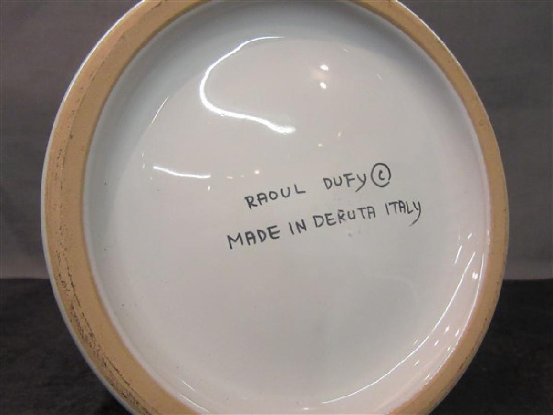 Deruta Italy  Ceramic Vase, Raoul Dufy - 4
