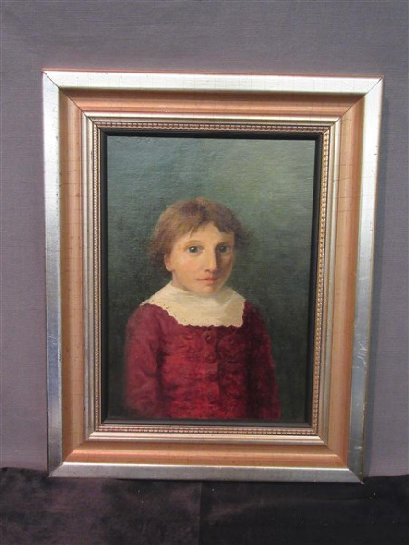 Oil Painting Portrait of Young Boy