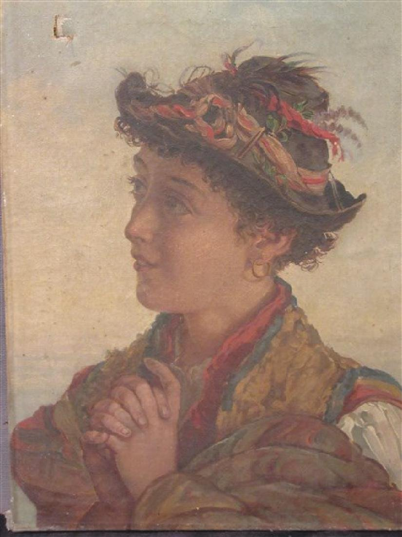 19th c. Italian School Peasant Portrait