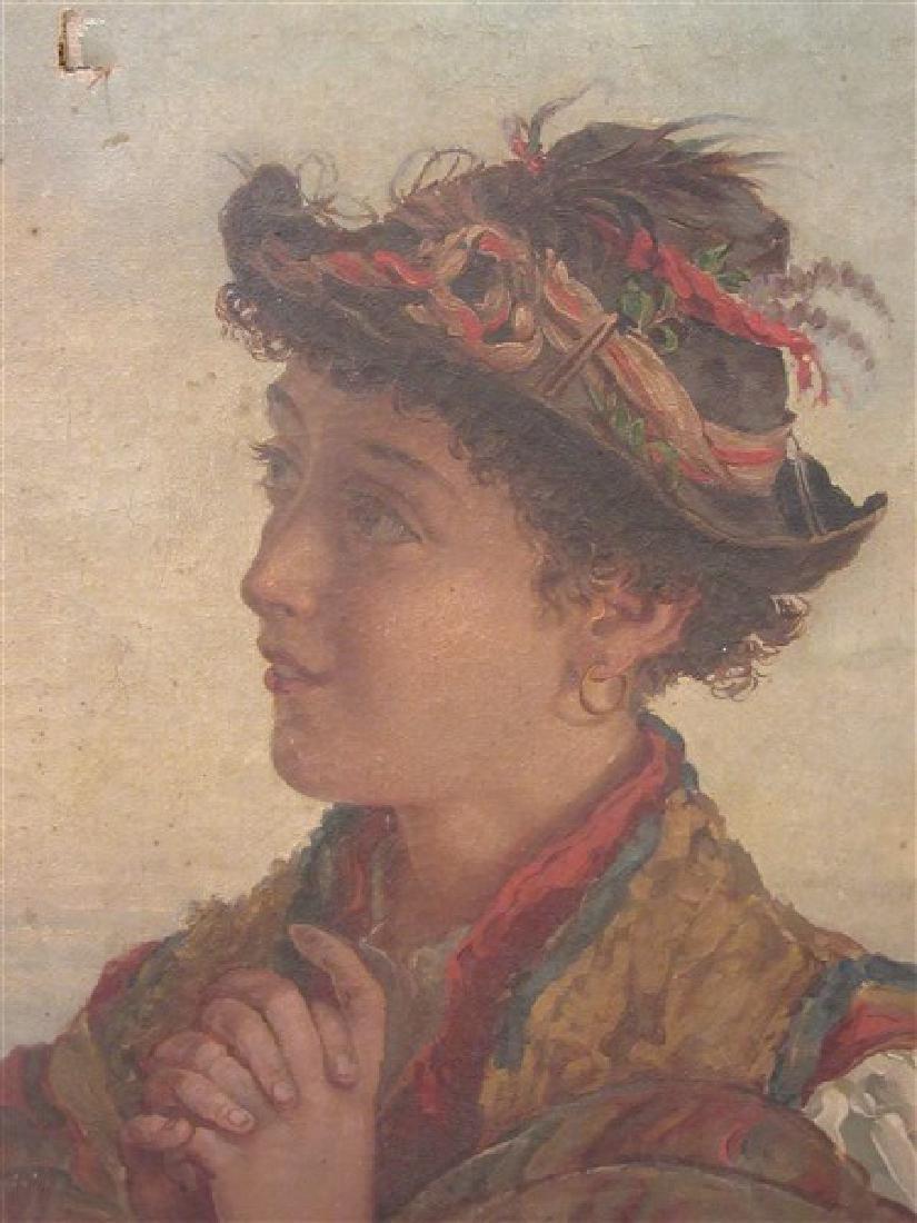 19th c. Italian School Peasant Portrait - 2