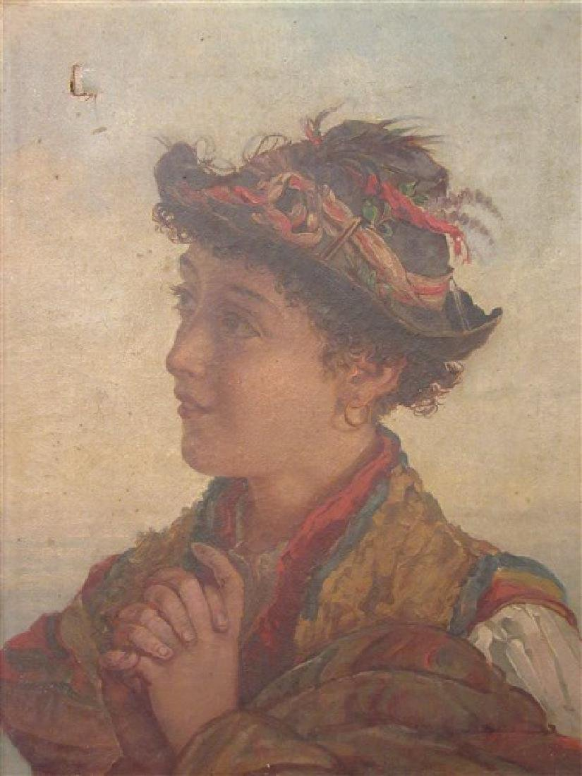 19th c. Italian School Peasant Portrait - 3
