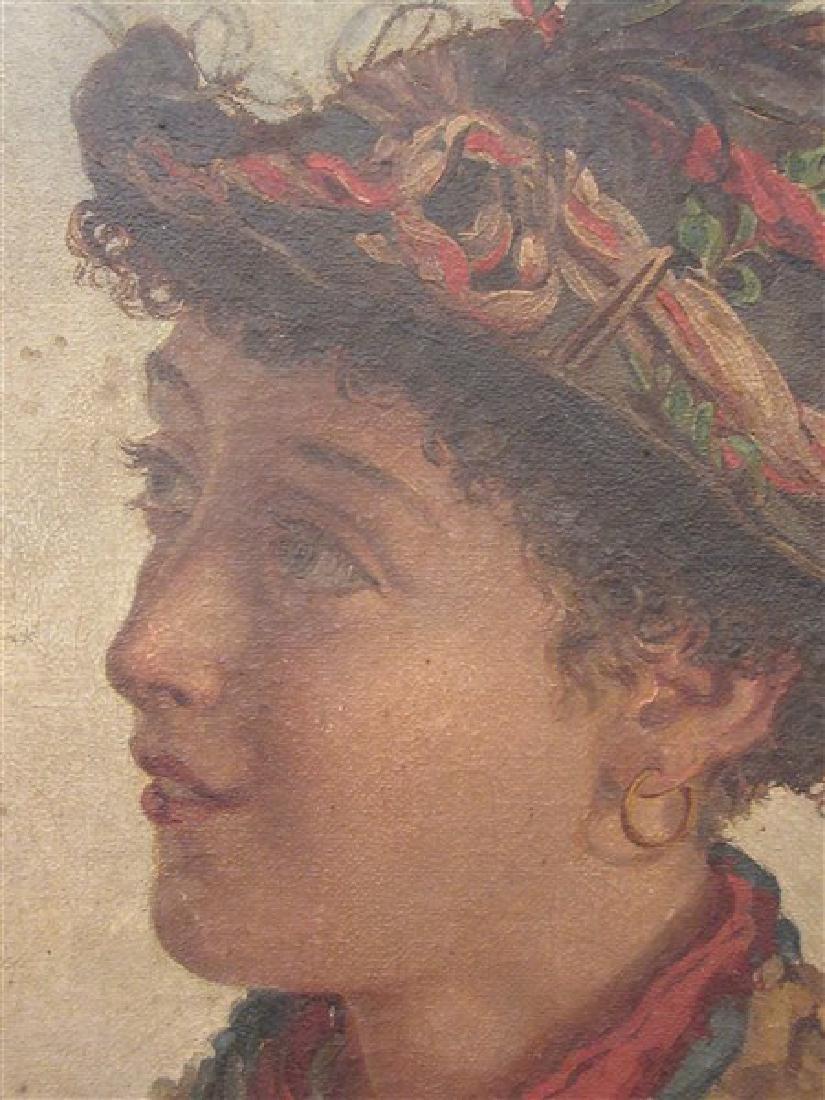 19th c. Italian School Peasant Portrait - 4