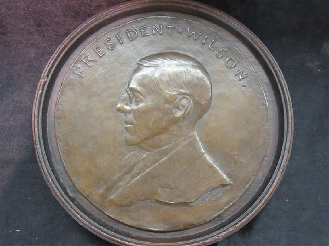 President Wilson Bronze Plaque