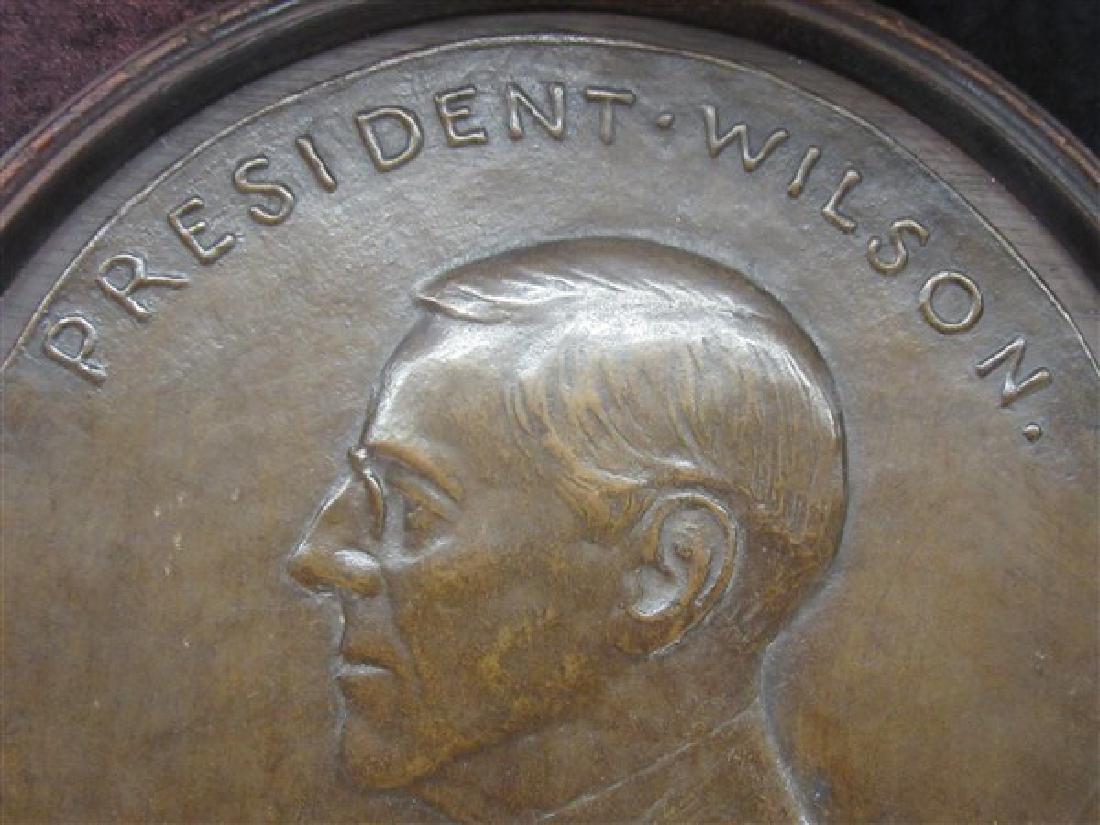 President Wilson Bronze Plaque - 2