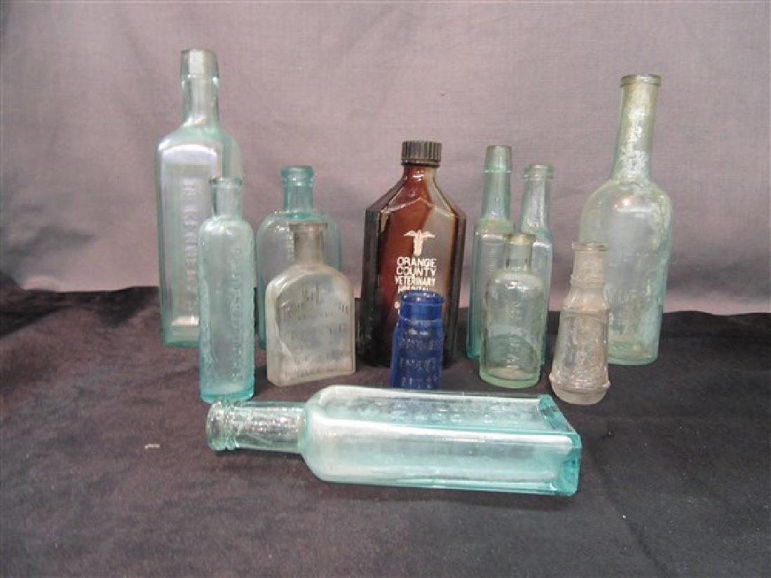 Twelve (12) Piece Antique Bottle Lot