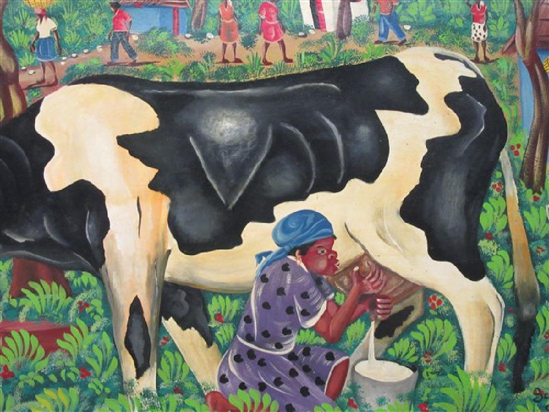 Haitian Art Oil On Canvas - 2