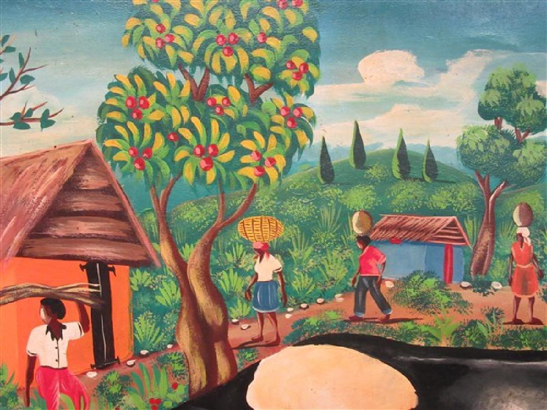 Haitian Art Oil On Canvas - 3
