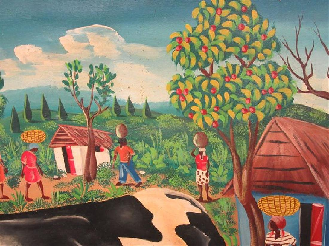 Haitian Art Oil On Canvas - 4