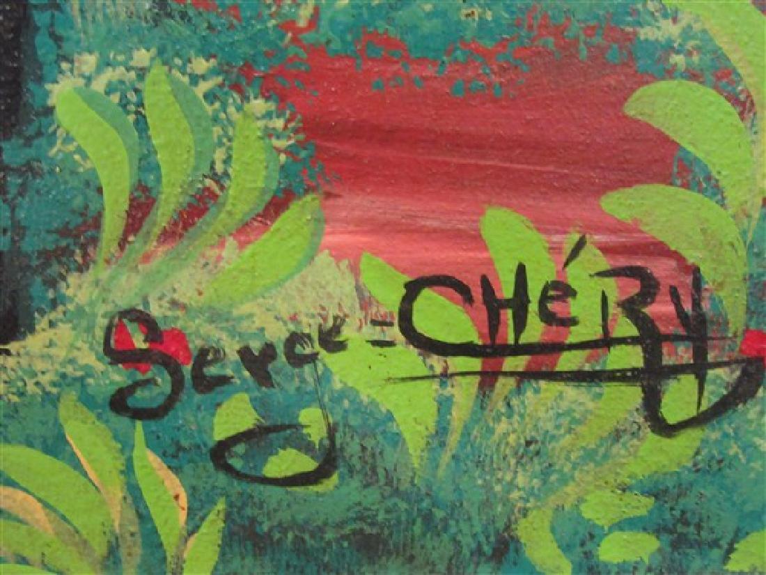 Haitian Art Oil On Canvas - 5