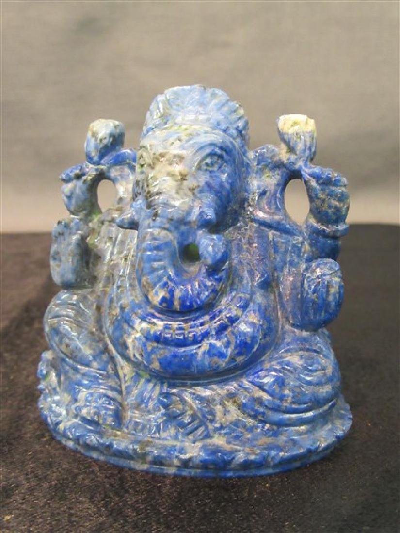 Chinese Carved Lapis Lazuli Elephant