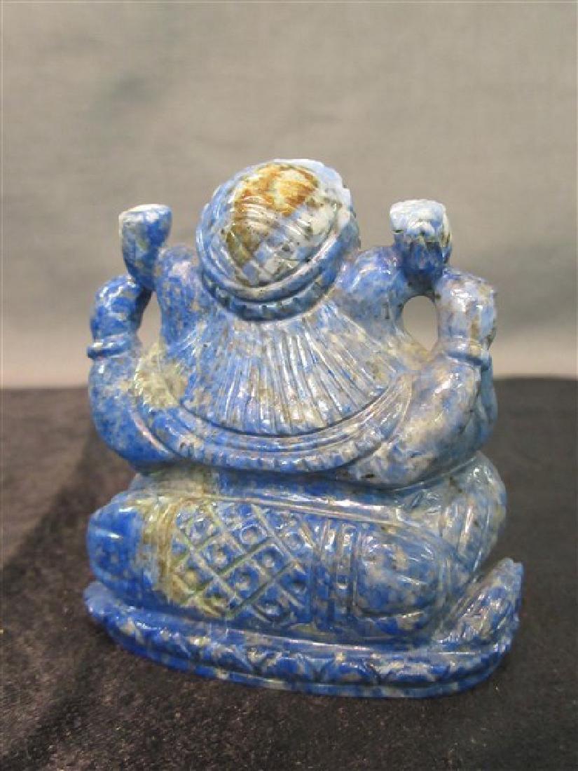 Chinese Carved Lapis Lazuli Elephant - 2